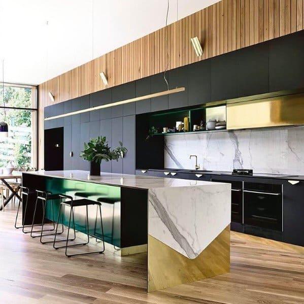 Tri-color kitchen color ideas