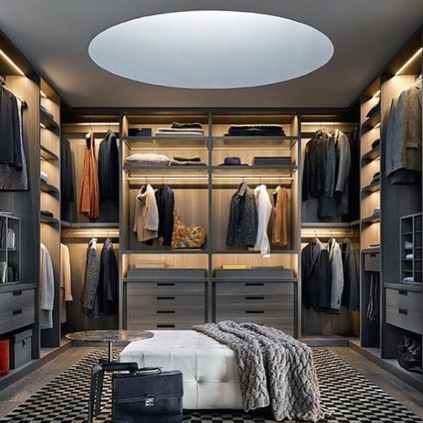 Top 100 best closet designs for men walk in wardrobe ideas for Best walk in closets in the world