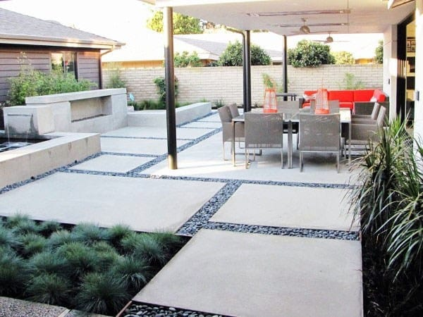 60 Concrete Patio Ideas Unique Backyard Retreats