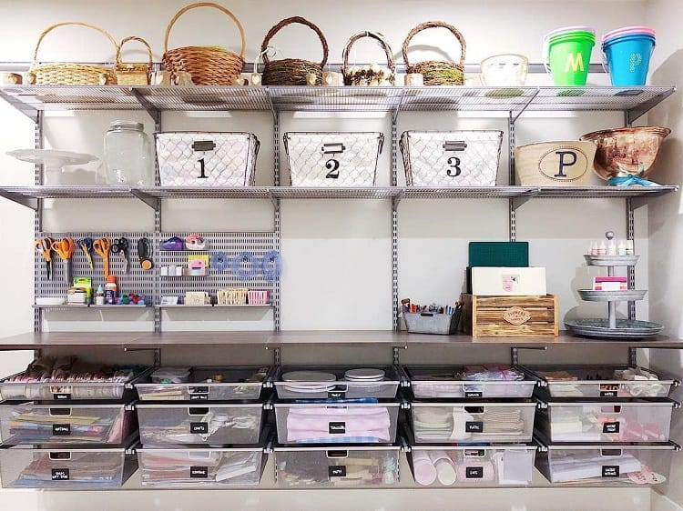 Luxury Container Shelf Basement Storage