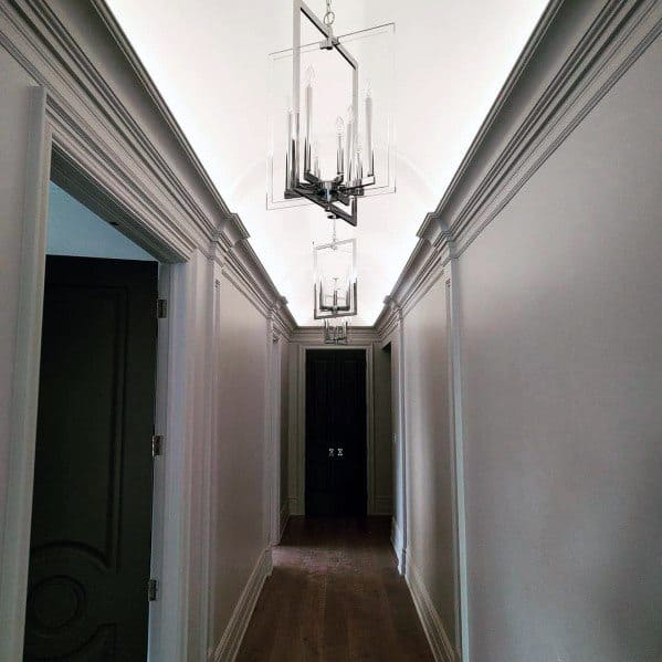 Luxury Crown Molding Lighting Ideas Hallway