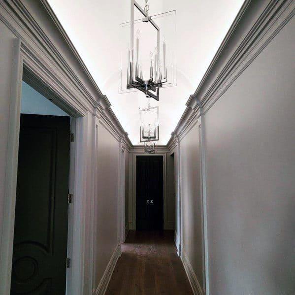 Luxury Crown Molding Lighting Ideas Hallway