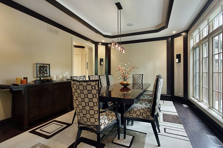 Luxury Dining Room Tray Ceiling