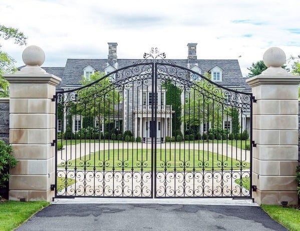 Luxury Estate Iron Driveway Gate Ideas