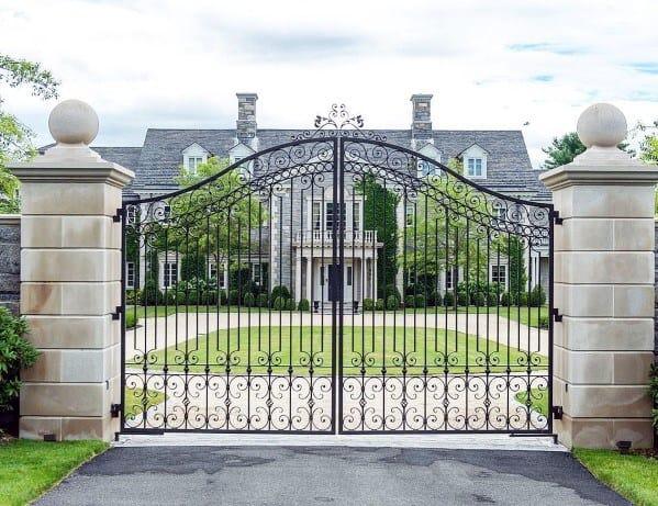 Luxury Estate Iron Driveway Gate Ideas