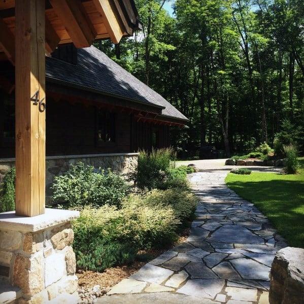 Luxury Flagstaff Stone Walkway Ideas