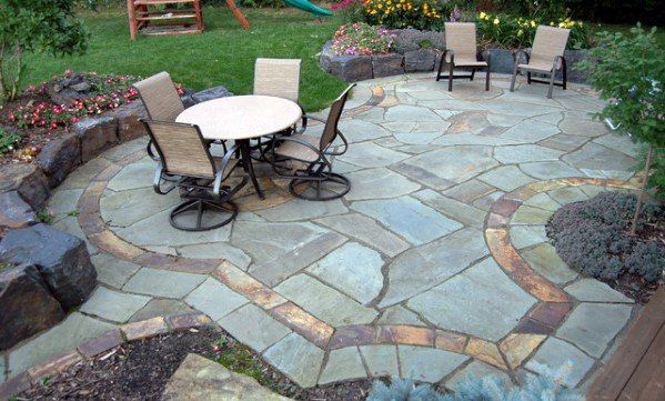 Luxury Flagstone Patio For Backyards