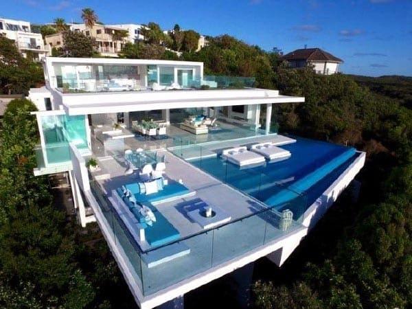 Luxury Gl Swimming Pool Designs With Infinity Edge