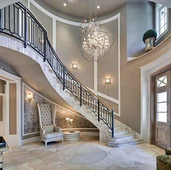 Luxury Grand Stair Railing Wrought Iron