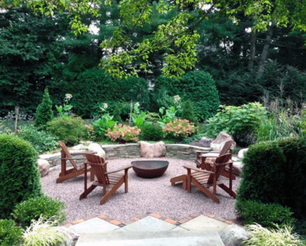 Luxury Gravel Patio Ideas Circle Fire Pit