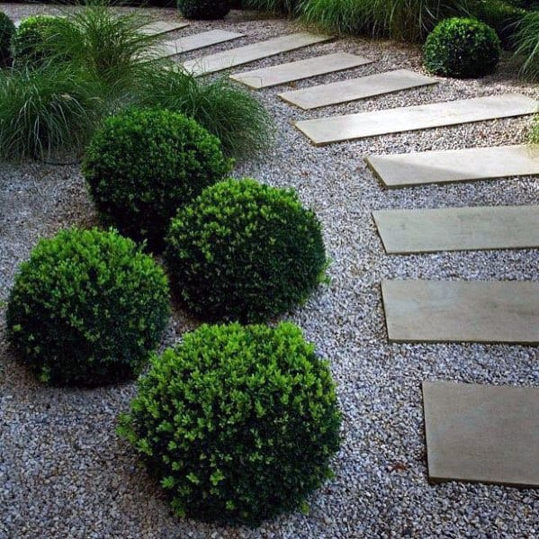 Luxury Gravel Walkway With Stepping Stones