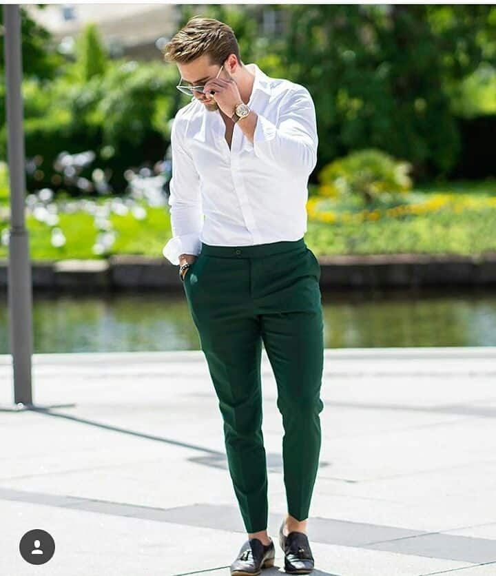 Luxury Green Pants Outfit