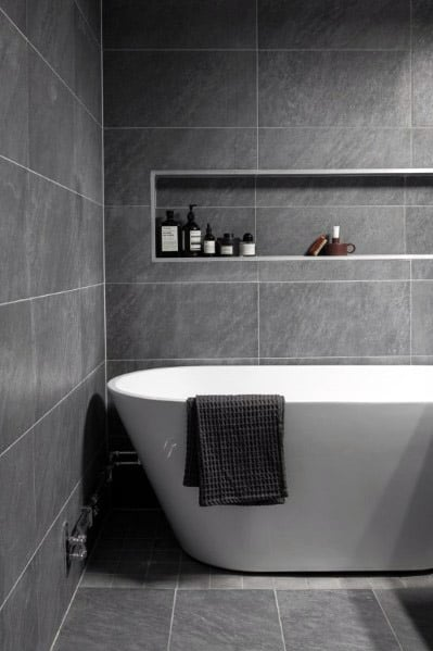 Top 60 Best Grey Bathroom Tile Ideas