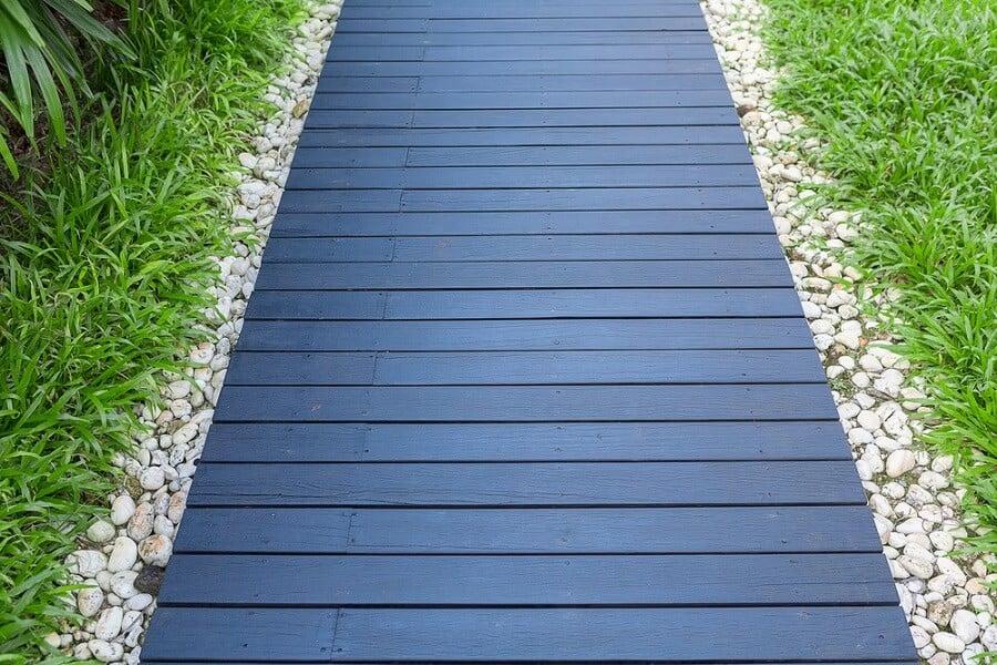 Luxury Home Backyard Designs Wooden Walkway