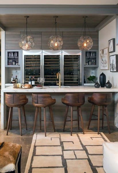 Luxury Home Bar With Rustic Design