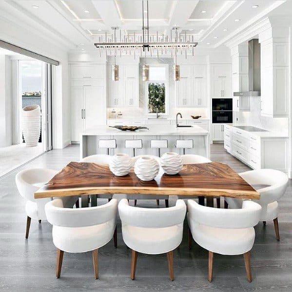 Luxury Home Coffered Kitchen Ceiling Ideas