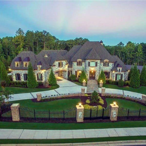 Luxury Home Landscape Ideas For Driveway