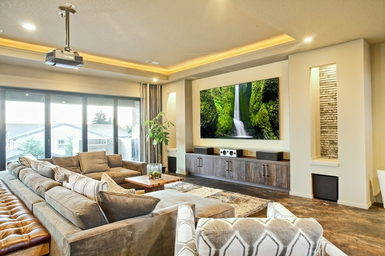 Luxury Home Living Room Entertainment Center