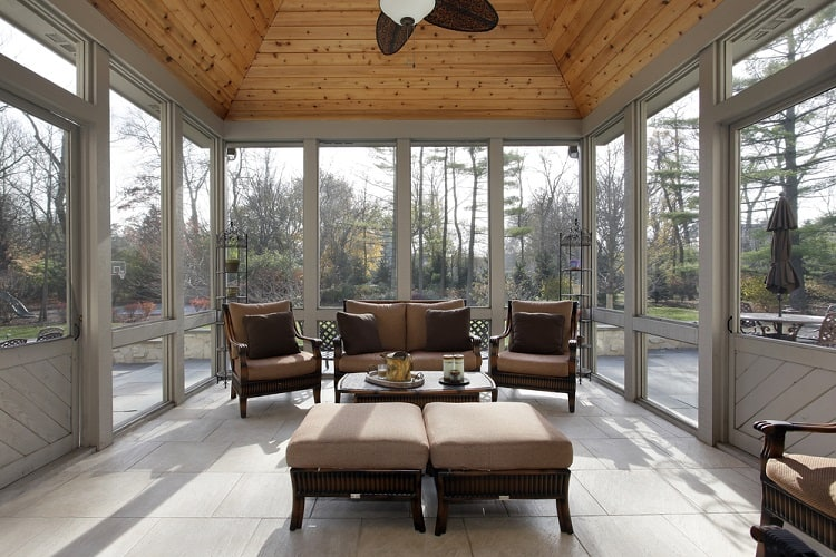 Luxury Home Screened In Sun Porch