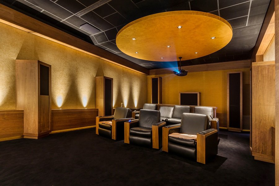 Blue Home Theater Seats Interior Ideas