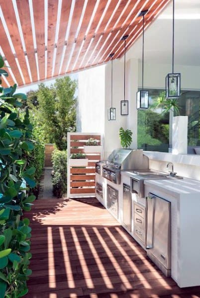 Luxury Homes Built In Grill Ideas