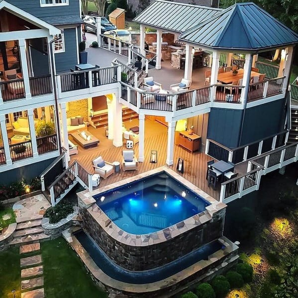 Top 40 Best Deck Roof Ideas - Covered Backyard Space Designs on Luxury Backyard Design id=59105