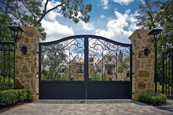 Luxury Iron Decorative Driveway Gate Ideas