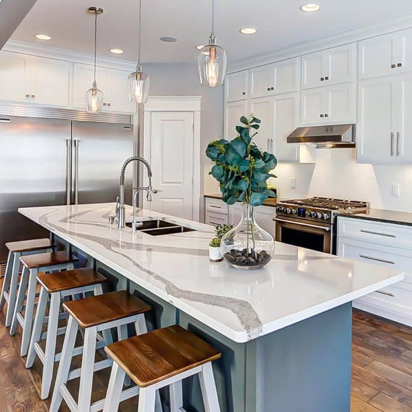 Top 50 Best Kitchen Island Lighting Ideas
