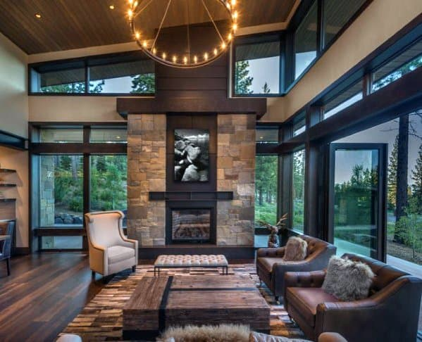 leather formal living room ideas