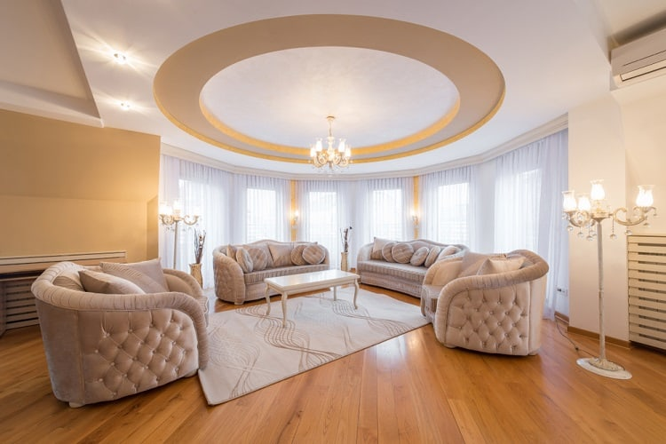 Luxury Living Room Round Ceiling Ideas