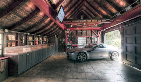 50 man cave garage ideas modern to industrial designs for Cool car garage ideas