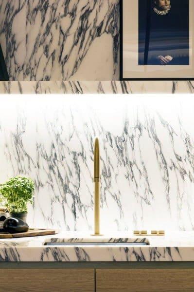 Ý tưởng nhà bếp bằng đá cẩm thạch sang trọng