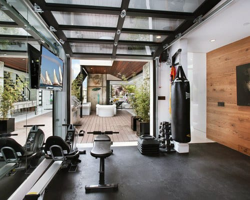 Home gym design  40 Personal Home Gym Design Ideas For Men - Workout Rooms