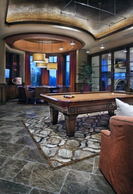 Luxury Mens Pool Table Game Room Home Ideas