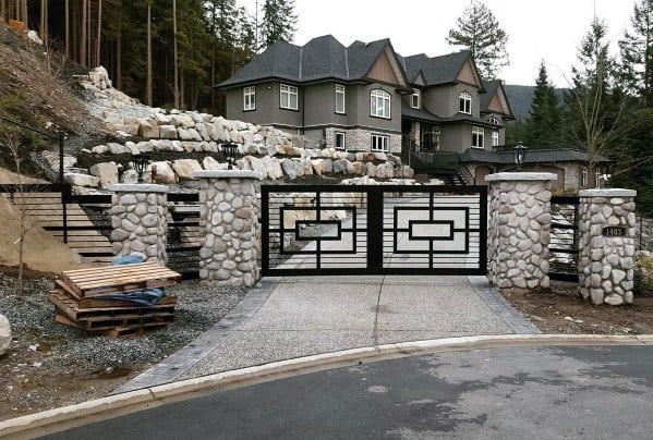 Luxury Metal Driveway Gate Ideas