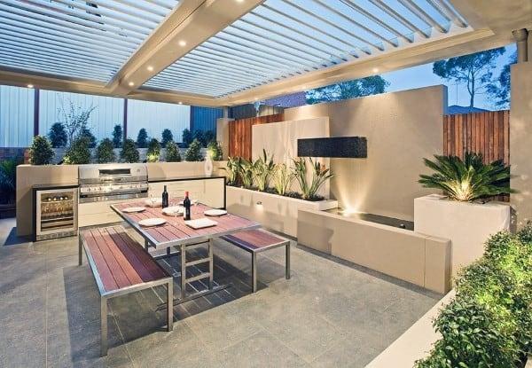 Luxury Modern Concrete Outdoor Kitchen Ideas
