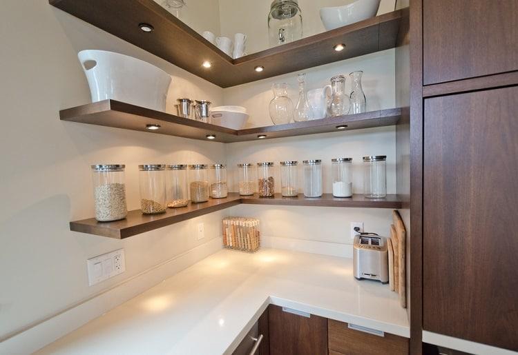 Luxury Modern Corner Open Shelving