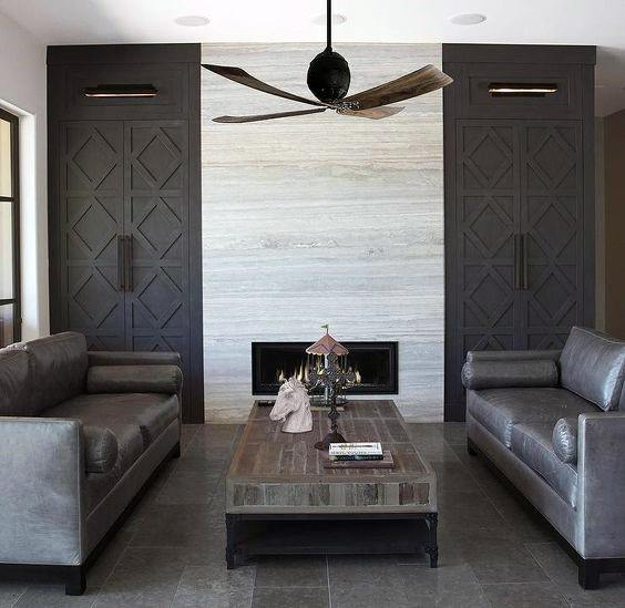 Contemporary Tile Design Ideas: Top 70 Best Modern Fireplace Design Ideas