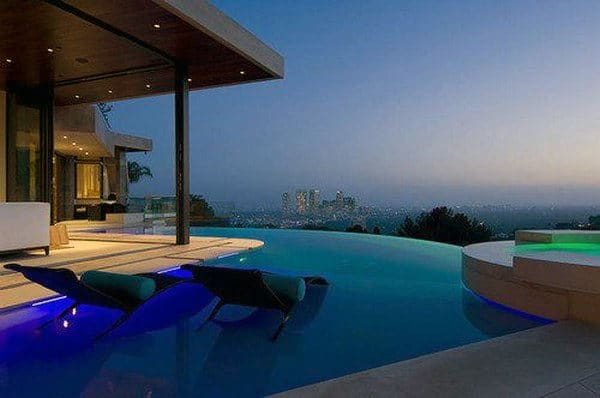 Luxury Multi Million Dollar Home Swimming Pools With Seating In Water