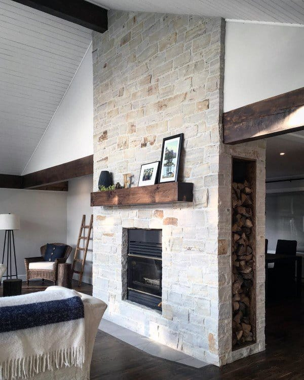 top 70 best stone fireplace design ideas rustic rock interiors rh nextluxury com stone fireplace decorating ideas photos Stone Veneer Fireplace