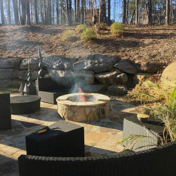 Luxury Patio Firepit Flagstone