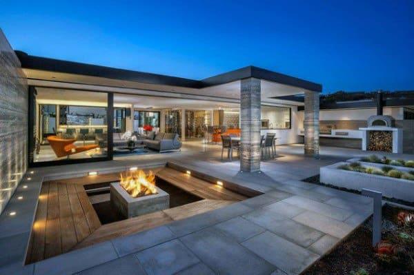 Top 60 Best Outdoor Patio Ideas - Backyard Lounge Designs on Luxury Backyard Patios id=53029