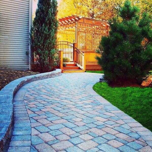 Luxury Paver Walkway Ideas With Gates