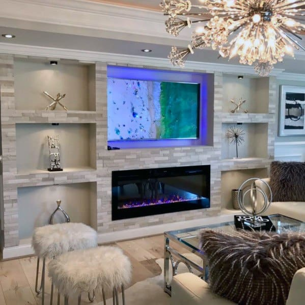 Luxury Recessed Wall Niche Living Room