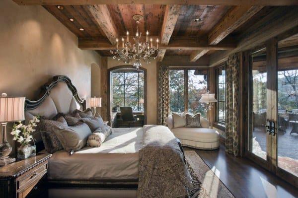 Luxe Rustique Chambre à coucher des Idées
