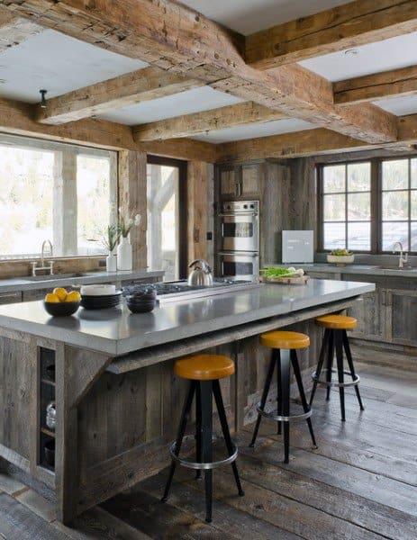 Top 60 Best Rustic Kitchen Ideas Vintage Inspired Interior Designs