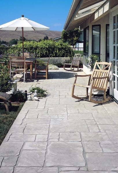 Luxury Stamped Concrete Patio