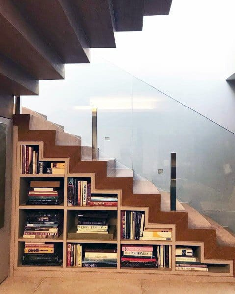 Luxury Under Stairs Ideas Bookcase