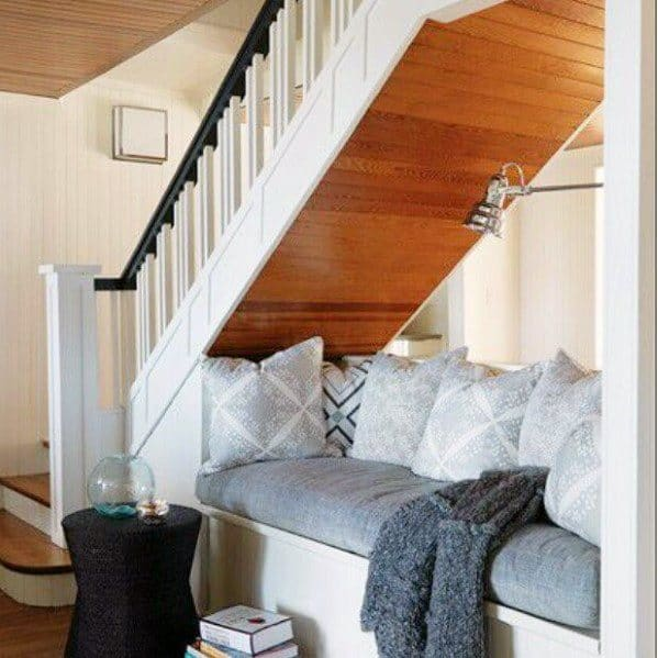 Luxury Under Stairs Ideas Cozy Seating Nook