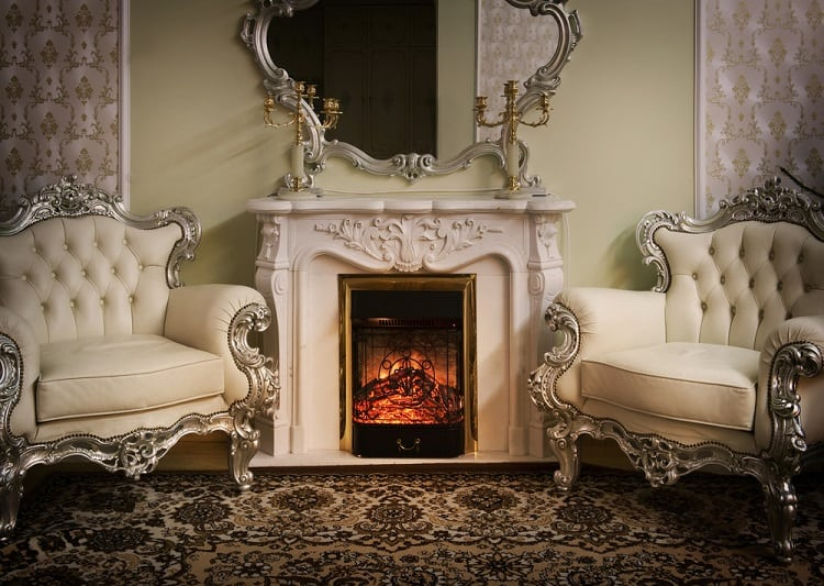 Luxury Victorian Styled Interior Mantel Decor